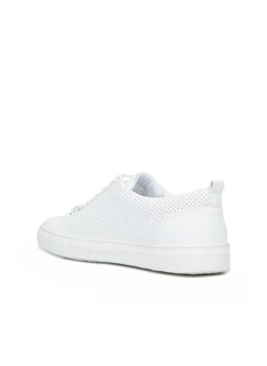 Divarese Divarese 5025334 Zımba Dokulu Erkek Sneaker Beyaz